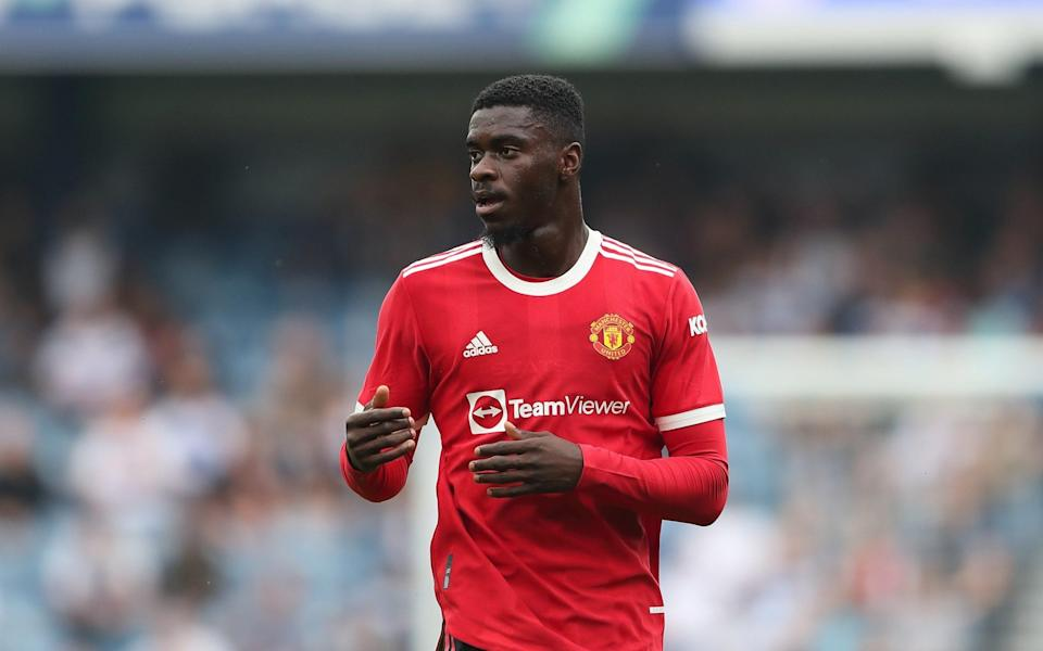 Axel Tuanzebe in action against Queens Park Rangers at the weekend - GETTY IMAGES