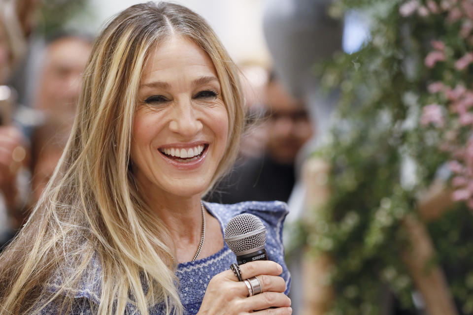 SYDNEY, AUSTRALIA - OCTOBER 20: Sarah Jessica Parker attends  a shoe signing event for her SJP line at David Jones Elizabeth Street Store on October 20, 2019 in Sydney, Australia. (Photo by Hanna Lassen/Getty Images)