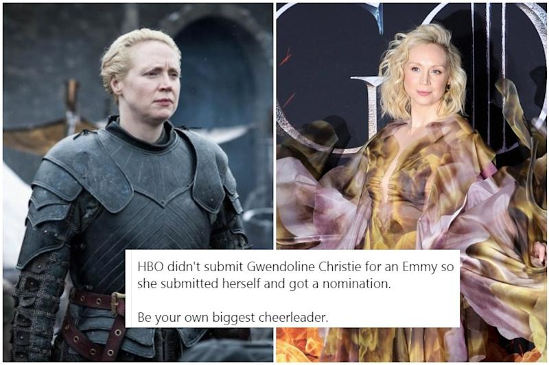 GoT's Brienne of Tarth Submits Her Own Name for Emmy and Gets Nominated, Fans Troll HBO