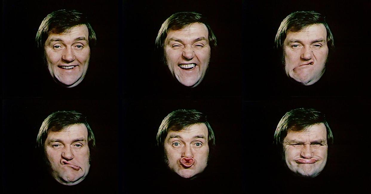 Les Dawson gurning sequences recorded for 'Sez Les' in the 1970's. (ITV archive)