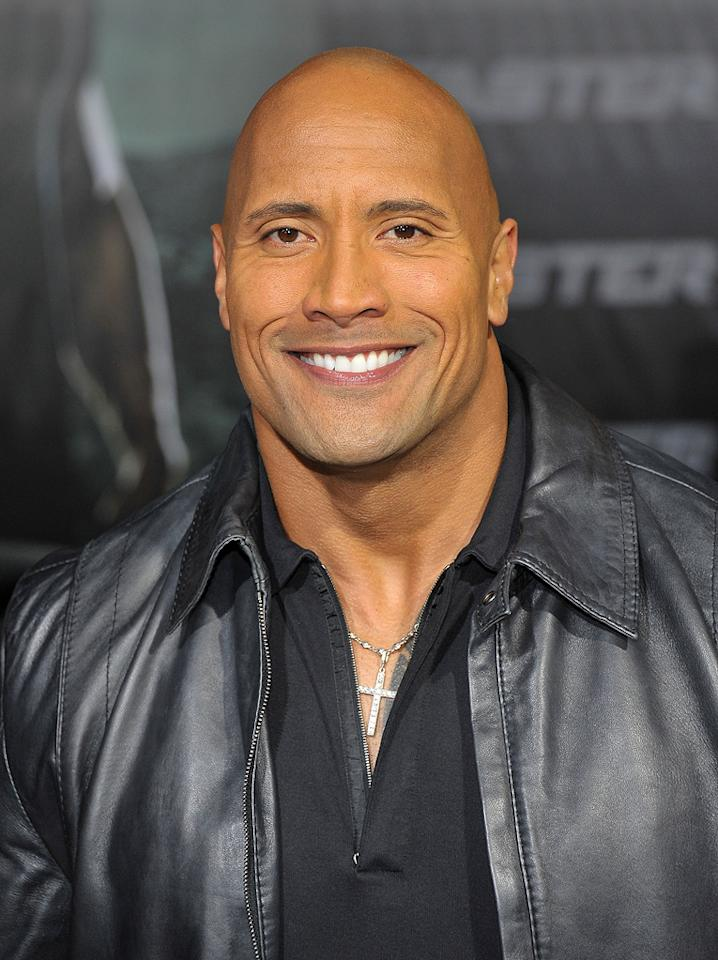 """<a href=""""http://movies.yahoo.com/movie/contributor/1808442134"""">Dwayne Johnson</a> at the Los Angeles premiere of <a href=""""http://movies.yahoo.com/movie/1810147419/info"""">Faster</a> on November 22, 2010."""