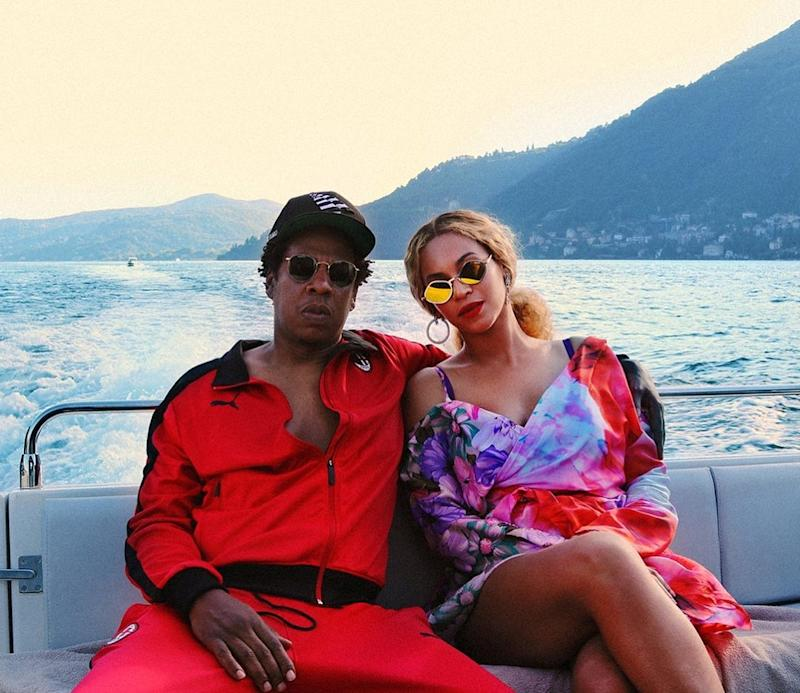 In between touring the world for On the Run II, Beyoncé and Jay-Z stopped off in Lake Como for some color-coordinated R&R.