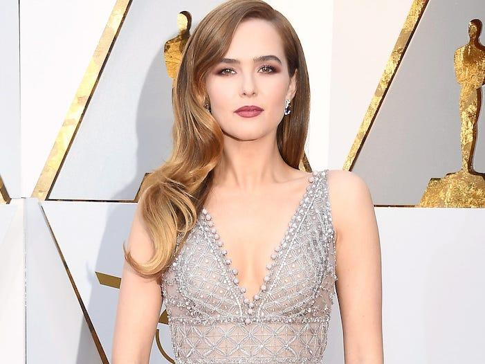 "Zoey Deutch was diagnosed with COVID-19. <p class=""copyright"">Frazer Harrison/Getty Images</p>"