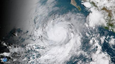 Hurricane Rosa seen here by GOES East satelite over the eastern Pacific Ocean