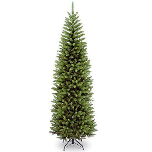 """<p><strong>National Tree Company</strong></p><p>amazon.com</p><p><strong>$73.42</strong></p><p><a href=""""https://www.amazon.com/dp/B0019I7TLU?tag=syn-yahoo-20&ascsubtag=%5Bartid%7C2089.g.334%5Bsrc%7Cyahoo-us"""" rel=""""nofollow noopener"""" target=""""_blank"""" data-ylk=""""slk:Shop Now"""" class=""""link rapid-noclick-resp"""">Shop Now</a></p><p>Don't let limited floor space prevent you from displaying a full-size tree this holiday. This slim tree is available in a range of sizes, and it can be fluffed out to a larger look, while still fitting nicely into tight corners.</p>"""