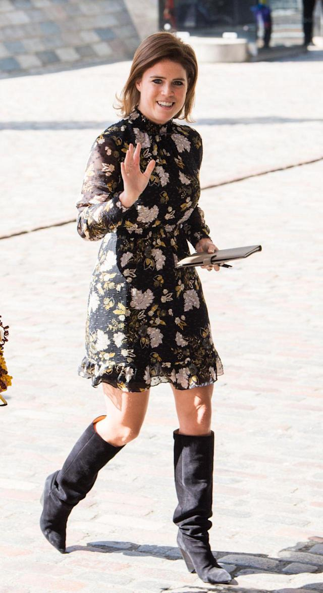 Princess Eugenie's outfit has caused a stir online. (Photo: Getty Images)