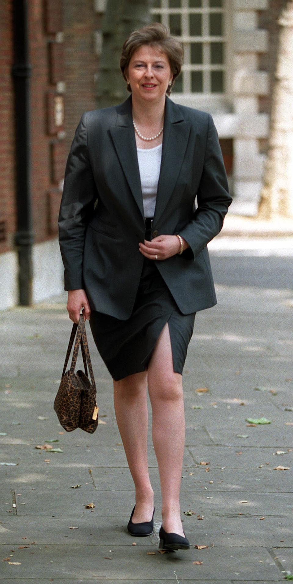 She first entered the Shadow Cabinet in 1999 when she was appointed shadow Education and Employment secretary by then Tory leader William Hague. Photo dated 15/06/1999 (PA)