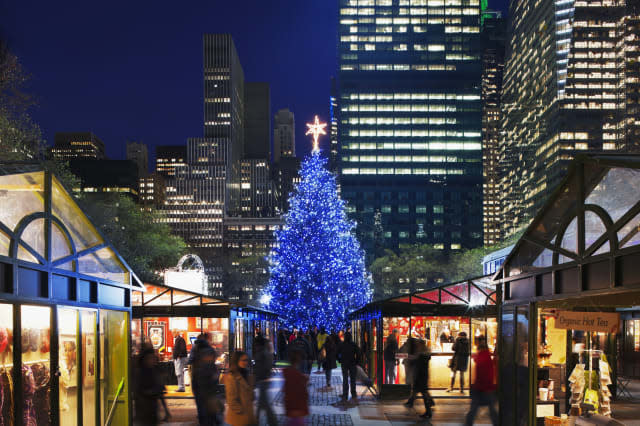 The Holiday Market in Bryant Park.