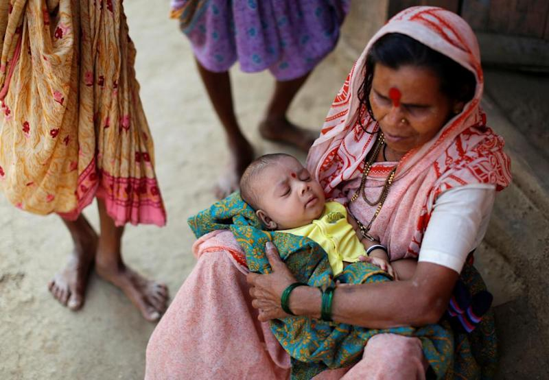Women with baby in India
