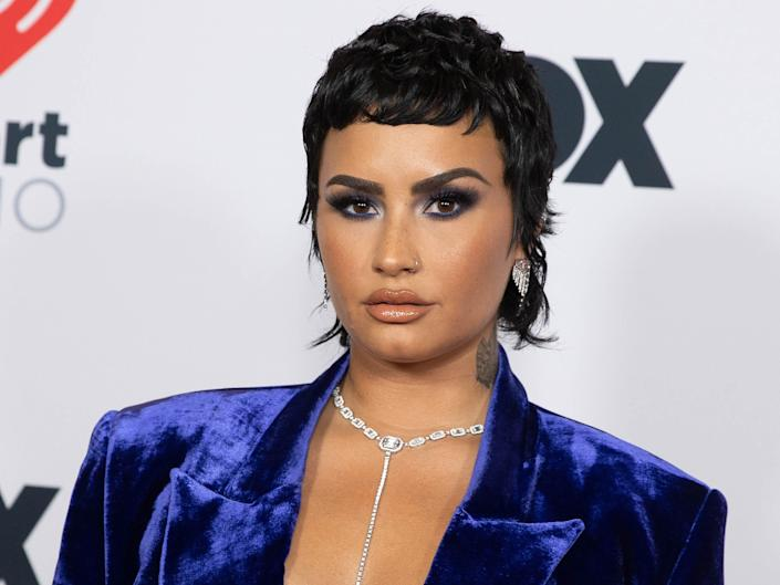 A headshot of actor and singer Demi Lovato.