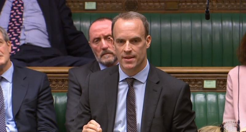 Former Brexit secretary Dominic Raab is also seen as a frontrunner (PA)