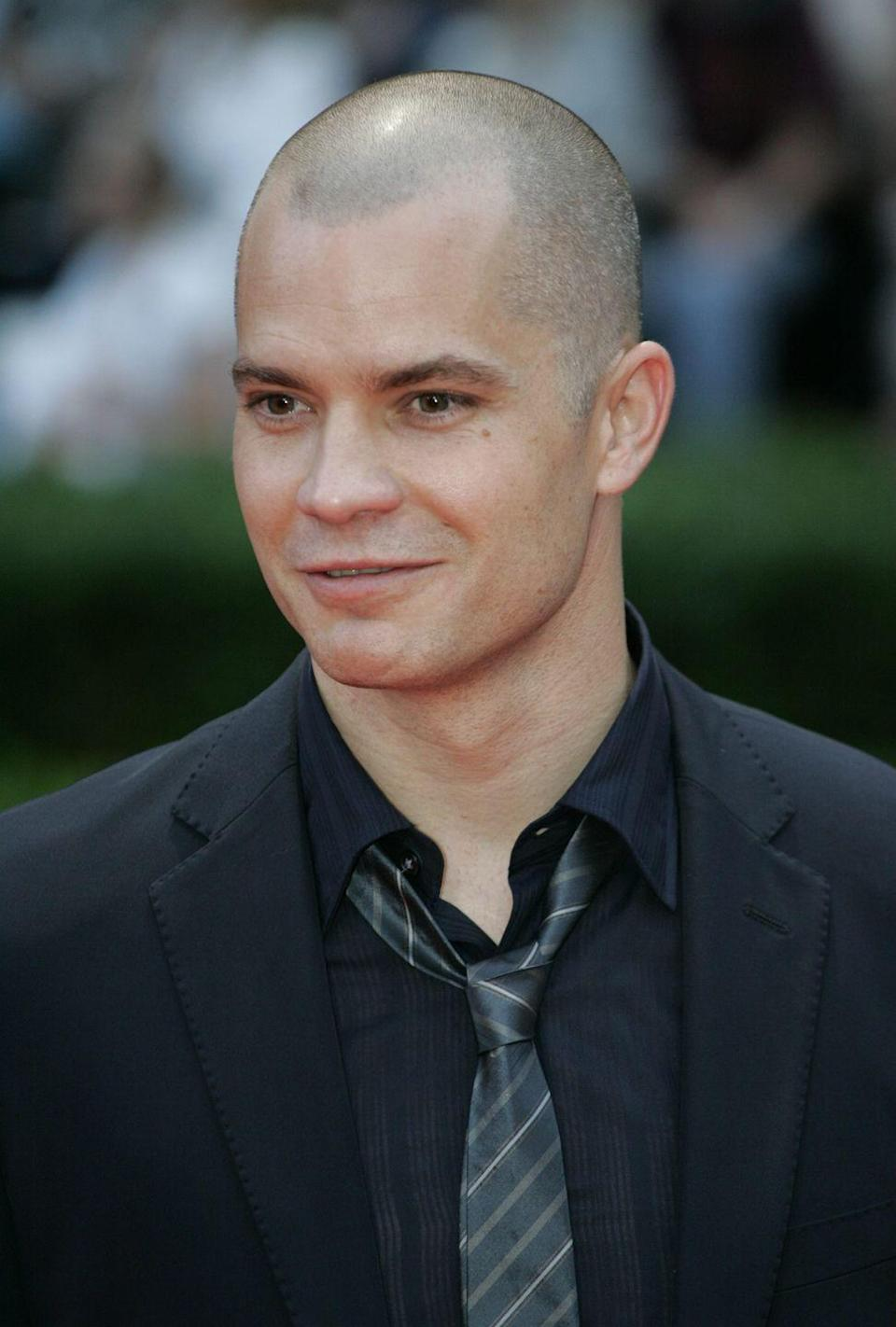<p>In order to play Agent 47 properly in <em>Hitman</em>, Timothy Olyphant debuted a shaved head in the 2007 film. </p>