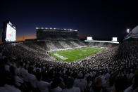 Michigan State and Nebraska play during an NCAA college football game, Saturday, Sept. 25, 2021, in East Lansing, Mich. (AP Photo/Al Goldis)