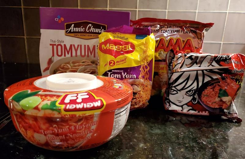 We Tried 5 Instant Tom Yum Noodles And These Were the Best