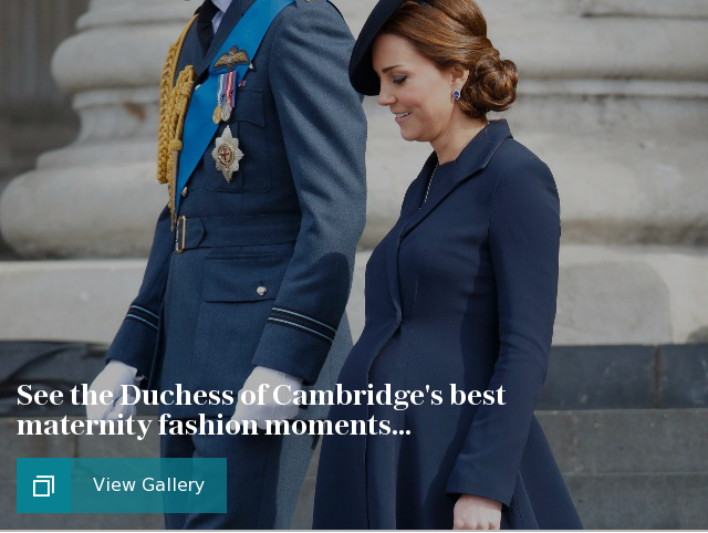 The Duchess of Cambridge's best maternity fashion moments...
