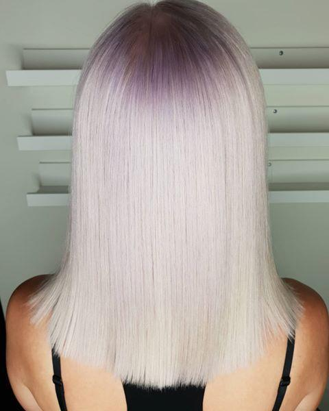 "<p>Try out a reverse ombré and have your colorist dye your <a href=""https://www.cosmopolitan.com/style-beauty/beauty/g28971659/shadow-root-hair-highlights/"" rel=""nofollow noopener"" target=""_blank"" data-ylk=""slk:roots"" class=""link rapid-noclick-resp"">roots</a> a soft shade of lavender, <strong>keeping your ends a creamy blonde</strong>. It feels a bit like the Billie Eilish trend, but definitively easier to wear.</p><p><a href=""https://www.instagram.com/p/CBzqtPCDkKx/"" rel=""nofollow noopener"" target=""_blank"" data-ylk=""slk:See the original post on Instagram"" class=""link rapid-noclick-resp"">See the original post on Instagram</a></p>"