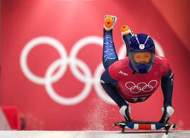 Lizzy Yarnold won a gold medal in skeleton at the 2014 Olympics. She's among the contenders for gold in PyeongChang. (Getty)