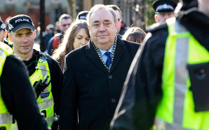 Alex Salmond arrives at his trial last year - he was cleared of all charges - Jane Barlow/PA