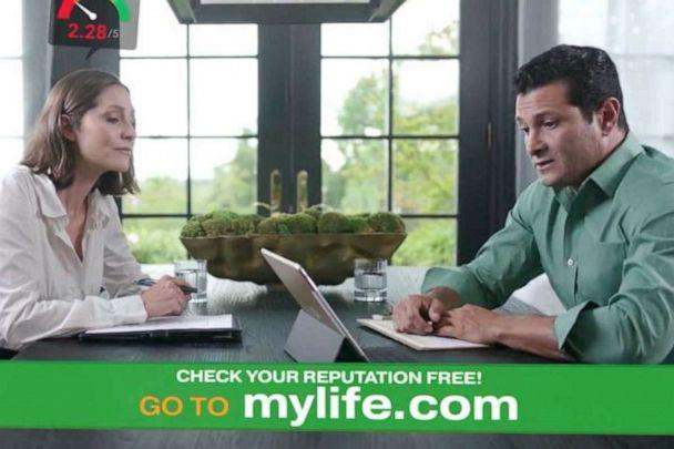PHOTO: A screen grab from the website MyLife. (MyLife.com)