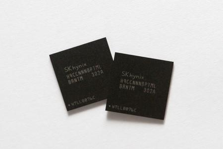 FILE PHOTO: Picture illustration of mobile memory chips made by chipmaker SK Hynix taken in Seoul