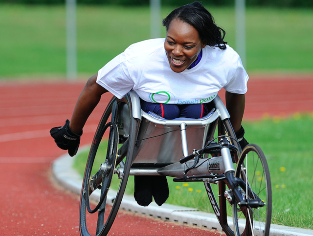 Mrs Wafula Strike was given an MBE in 2014 for her services to disability sport and charity (Picture: PA)