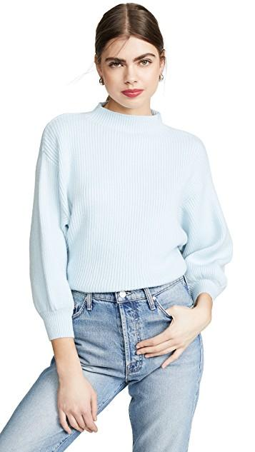 The icy blue color and ribbed texture of this sweater make it instantly chic. (Photo: Shopbop)