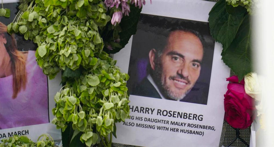 A photo of Harry Rosenberg at the site of the Miami building collapse.