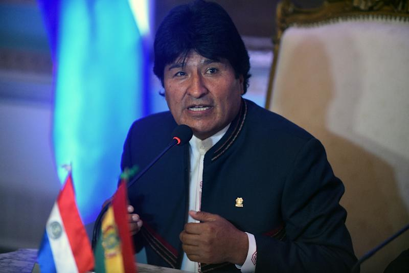 """Bolivian President Evo Morales called the Greek referendum a defeat against """"European imperialism"""" (AFP Photo/Norberto Duarte)"""