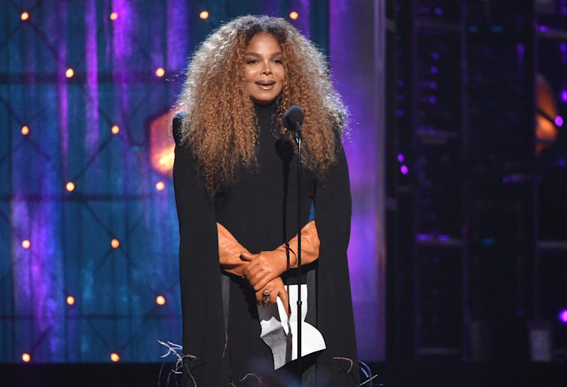 Inductee Janet Jackson speaks at the Rock & Roll Hall of Fame induction ceremony at the Barclays Center on Friday, March 29, 2019, in New York. (Photo by Evan Agostini/Invision/AP) ORG XMIT: NYPM197