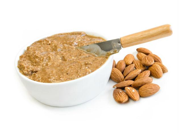 <b>Almond butter</b> <br>Adding this spread may lower bread's glycemic index (a measure of a food's effect on blood sugar). A study from the University of Toronto found that people who ate almonds with white bread didn't experience the same blood sugar surges as those who ate only the slice. <br><b>Eat more</b> Try it for a change from peanut butter in sandwiches, or make a veggie dip: Mix 1 tbsp almond butter with 2 tbsp fat-free plain yogurt, Iserloh suggests. Or add a dollop to oatmeal for flavor and protein.