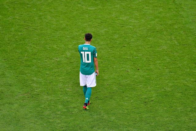 Mesut Ozil retired from the German national team a week after the 2018 World Cup. (Getty)