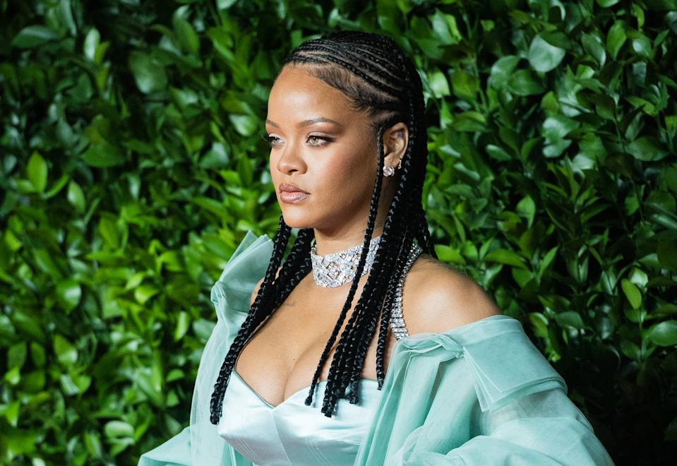 Rihanna arrives at The Fashion Awards 2019 held at Royal Albert Hall on December 02, 2019 in London, England. Photo: by Samir Hussein/WireImage