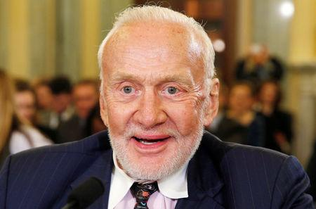 Buzz Aldrin testifies at space competitiveness hearing on Capitol Hill in Washington