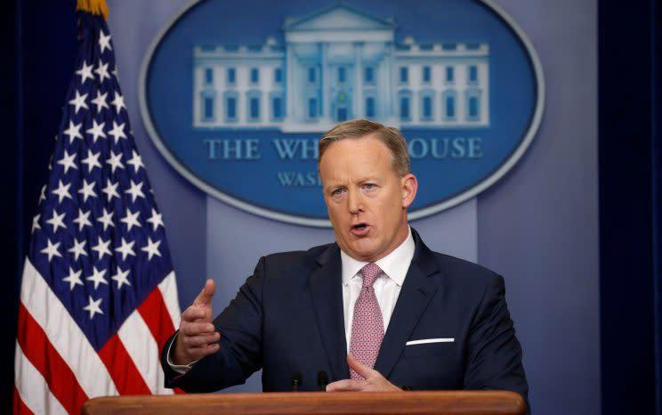 White House spokesman Sean Spicer holds a press briefing at the White House Jan. 23. (Photo: Kevin Lamarque/Reuters)