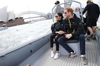 "<p>After the exciting Invictus Games opening ceremony, the Duke and Duchess <a href=""https://www.townandcountrymag.com/society/tradition/a23941284/meghan-markle-style-invictus-games-sydney-2018-royal-tour-sneakers-veja/"" rel=""nofollow noopener"" target=""_blank"" data-ylk=""slk:watched a sailing competition"" class=""link rapid-noclick-resp"">watched a sailing competition</a> from the water. Meghan wore a pair of black jeans by <a href=""https://outlanddenim.com/products/harriet-in-black"" rel=""nofollow noopener"" target=""_blank"" data-ylk=""slk:Outland Denim"" class=""link rapid-noclick-resp"">Outland Denim</a> with an Invictus Games jacket, a pair of <a href=""https://go.redirectingat.com?id=74968X1596630&url=https%3A%2F%2Fwww.net-a-porter.com%2Fus%2Fen%2Fproduct%2F1063198%2FVeja%2Fv-10-leather-sneakers&sref=https%3A%2F%2Fwww.townandcountrymag.com%2Fstyle%2Ffashion-trends%2Fg3272%2Fmeghan-markle-preppy-style%2F"" rel=""nofollow noopener"" target=""_blank"" data-ylk=""slk:Veja V-10"" class=""link rapid-noclick-resp"">Veja V-10</a> sneakers, and <a href=""https://go.redirectingat.com?id=74968X1596630&url=http%3A%2F%2Fwww.clubmonaco.com%2Fproduct%2Findex.jsp%3FproductId%3D120139286%26size%3DOneSize%26color%3D1174801%26cmintlrs%3Dtrue%26SiteId%3DQFGLnEolOWg-E2wIVtGSAEklAIEows_YuQ&sref=https%3A%2F%2Fwww.townandcountrymag.com%2Fstyle%2Ffashion-trends%2Fg3272%2Fmeghan-markle-preppy-style%2F"" rel=""nofollow noopener"" target=""_blank"" data-ylk=""slk:Krewe Gravier sunglasses"" class=""link rapid-noclick-resp"">Krewe Gravier sunglasses</a>.</p><p><a class=""link rapid-noclick-resp"" href=""https://go.redirectingat.com?id=74968X1596630&url=https%3A%2F%2Fwww.net-a-porter.com%2Fus%2Fen%2Fproduct%2F1063198%2FVeja%2Fv-10-leather-sneakers%3Fcm_mmc%3DLinkshareUS-_-TnL5HPStwNw-_-Custom-_-LinkBuilder%26siteID%3DTnL5HPStwNw-5rP2Foet1Rv18g2YJt6RHg%26Skimlinks.com%3DSkimlinks.com%26dclid%3DCjkKEQjw6rXeBRCUls2ToN36kPwBEiQAY8wDXSN2gc9jC4ATlC0VDWXIHzGUsuAZYA9QpWwKqpk6n33w_wcB&sref=https%3A%2F%2Fwww.townandcountrymag.com%2Fstyle%2Ffashion-trends%2Fg3272%2Fmeghan-markle-preppy-style%2F"" rel=""nofollow noopener"" target=""_blank"" data-ylk=""slk:SHOP NOW"">SHOP NOW</a> <em>Veja V-10 Leather Sneaker, $150</em></p><p><a class=""link rapid-noclick-resp"" href=""https://go.redirectingat.com?id=74968X1596630&url=http%3A%2F%2Fwww.clubmonaco.com%2Fproduct%2Findex.jsp%3FproductId%3D120139286%26size%3DOneSize%26color%3D1174801%26cmintlrs%3Dtrue%26SiteId%3DQFGLnEolOWg-E2wIVtGSAEklAIEows_YuQ%26SiteId%3DTnL5HPStwNw-LAvebxkYMELwkPecnDOEMg&sref=https%3A%2F%2Fwww.townandcountrymag.com%2Fstyle%2Ffashion-trends%2Fg3272%2Fmeghan-markle-preppy-style%2F"" rel=""nofollow noopener"" target=""_blank"" data-ylk=""slk:SHOP NOW"">SHOP NOW</a> <em>Krewe Gravier sunglasses, $315</em></p>"