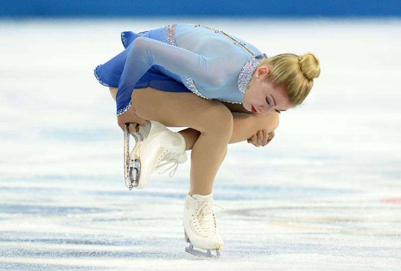 Gracie Gold of the United States performs in the Women's Figure Skating Free Program at the Iceberg Skating Palace on Feb. 20, 2014.