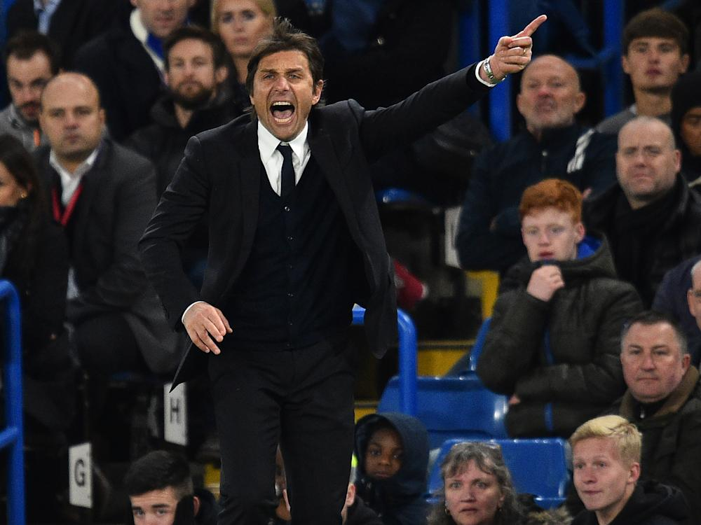 Antonio Conte's side were tested by Southampton but came through to take all three points: Getty