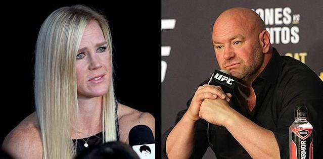 Holly Holm and Dana White - UFC 239