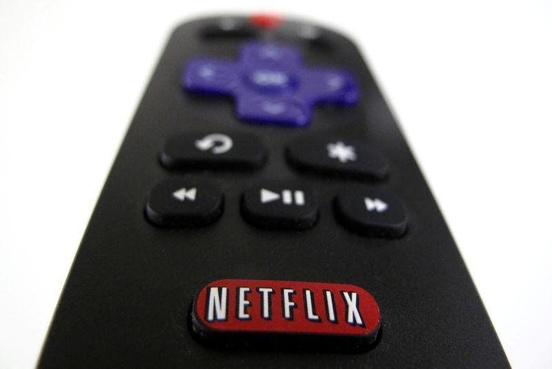 FILE PHOTO: The Netflix logo is pictured on a television remote in this illustration photograph taken in Encinitas California
