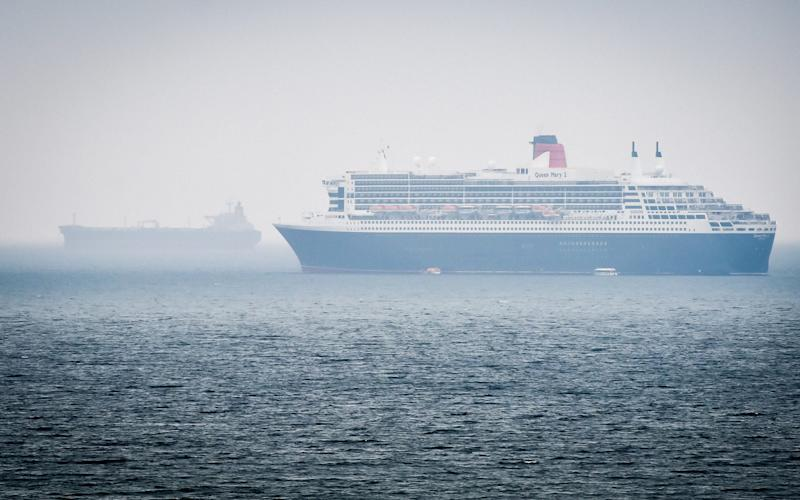 Two cruise ships docked off the coast of Weymouth, Dorset, during a pause in cruise ship operations during the pandemic. - Ben Birchall/PA Wire