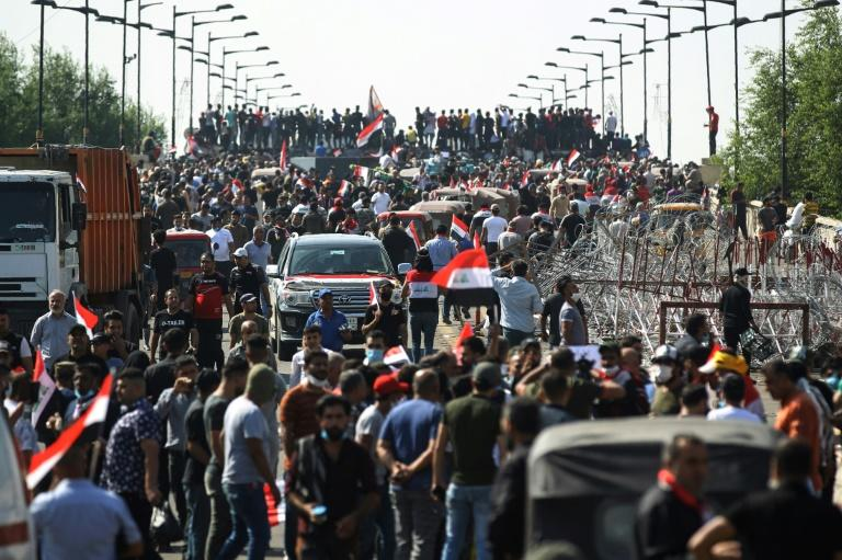 More than 200 people have died and thousands wounded in Iraq since anti-government protests broke out on October 1 (AFP Photo/-)