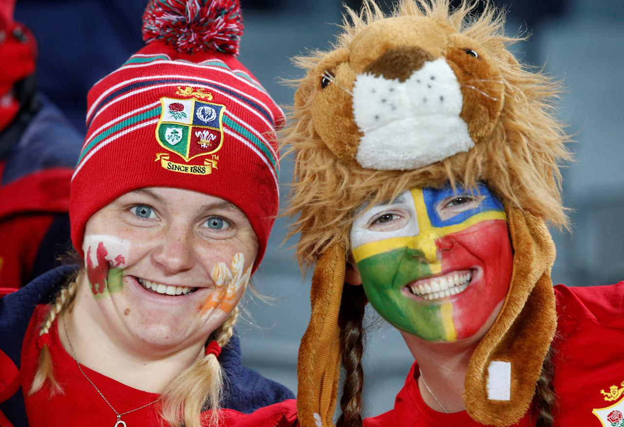 Rugby Union - New Zealand All Blacks v British and Irish Lions - Lions Tour - Eden Park, Auckland, New Zealand - June 24, 2017. Lions fans wait for the match to start. REUTERS/Nigel Marple