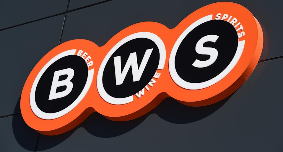 Pictured is a BWS sign. Customers are being offered 25 million Everyday Rewards points.