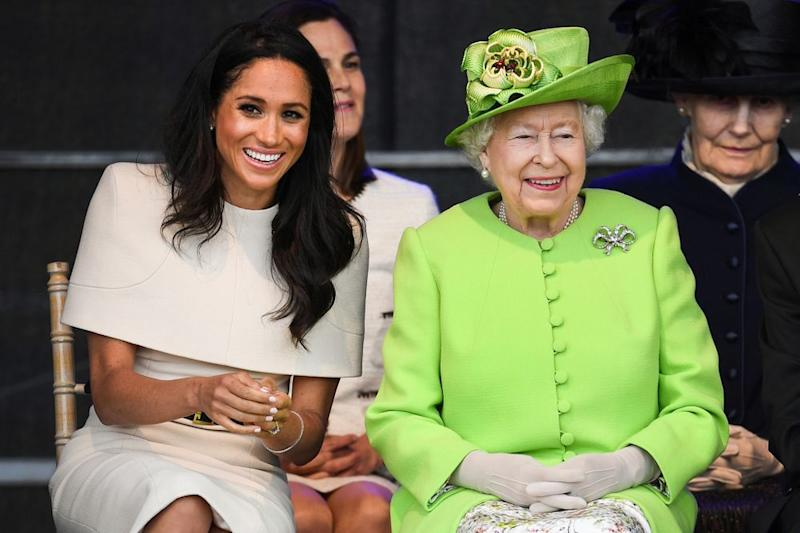 Meghan Markle and Queen Elizabeth in June 2018. | Jeff J Mitchell/Getty Images