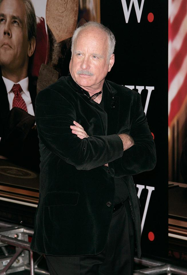"""<a href=""""http://movies.yahoo.com/movie/contributor/1800016360"""">Richard Dreyfuss</a> at the New York premiere of <a href=""""http://movies.yahoo.com/movie/1810026489/info"""">W.</a> - 10/14/2008"""