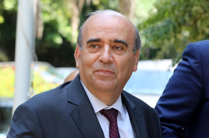 Wehbe, Lebanon's newly appointed foreign minister arrives at the Ministry of Foreign Affairs in Beirut
