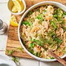 "<p>Consider making a double batch of this easy pasta salad--it's delicious the next day. The orzo will absorb the dressing as it sits, so add a little more olive oil and lemon juice if you'd like. <a href=""http://www.eatingwell.com/recipe/279674/lemon-shrimp-orzo-salad/"" rel=""nofollow noopener"" target=""_blank"" data-ylk=""slk:View recipe"" class=""link rapid-noclick-resp""> View recipe </a></p>"