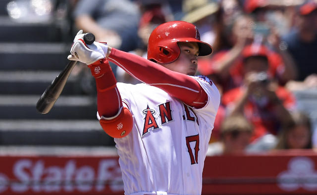 Shohei Ohtani returned to the Angels lineup Tuesday, but he'll only hit for now. (AP Photo)