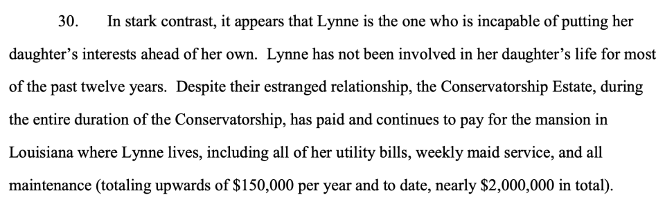 Jamie Spears's filing (Credit: Los Angeles Superior Court)