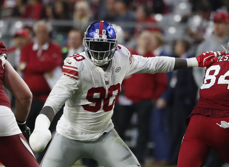 Defensive end Jason Pierre-Paul was traded to the Buccaneers on Thursday. (AP)